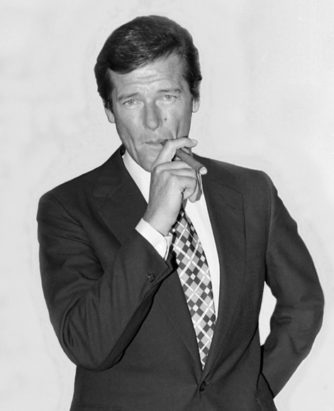 Roger Moore - Photograph by Allan Warren